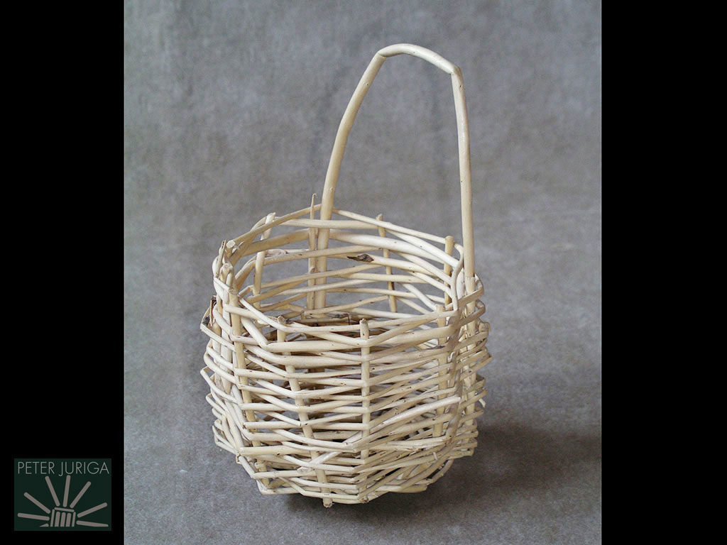 1990-1 My first basket, made without knowing any of the basics of basketry. It made me realize how much I had to learn | Peter Juriga