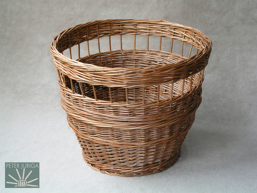 2001-2 The basket featured in the book which displays openwork (deliberate openings in the weave) and different wale styles | Peter Juriga