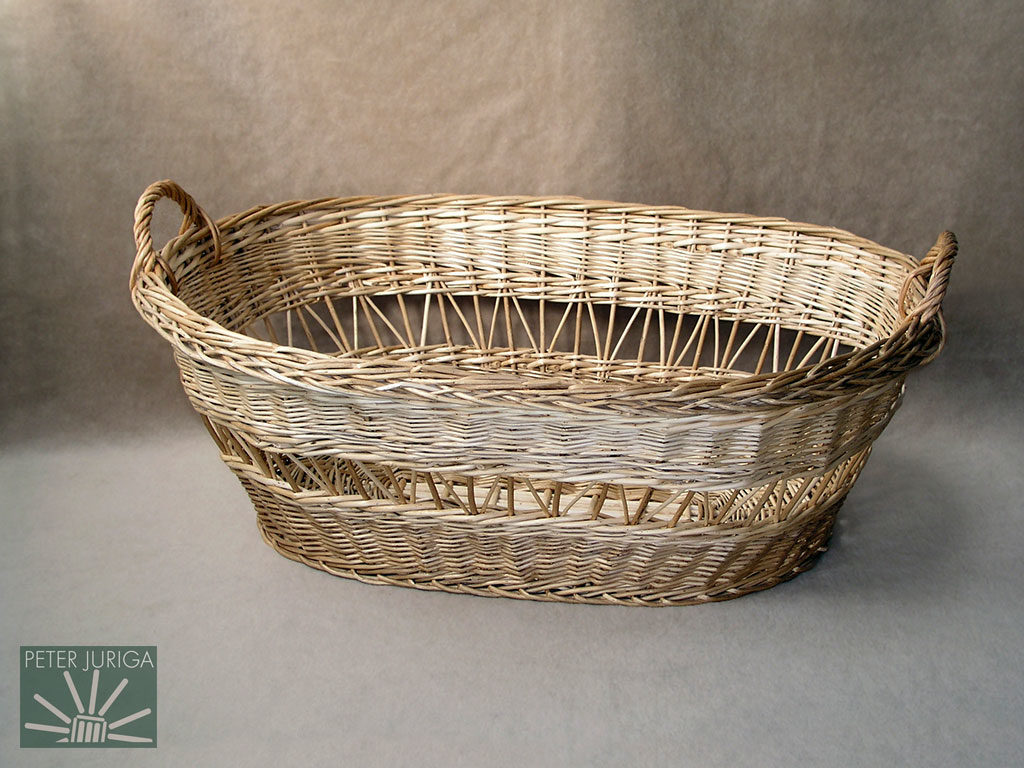 2001-3 This basket served as the demonstration in making oval shapes, roping rods, and another way of creating openwork | Peter Juriga