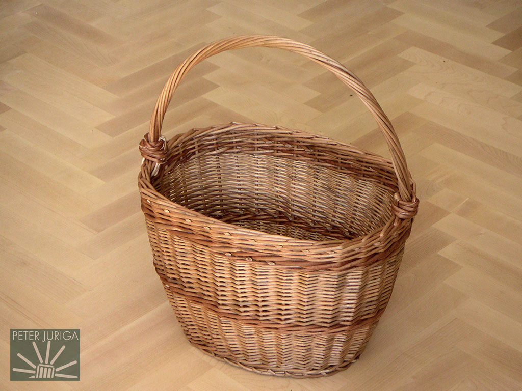 2003-03 An oval shopping basket, woven as a model for my courses. | Peter Juriga