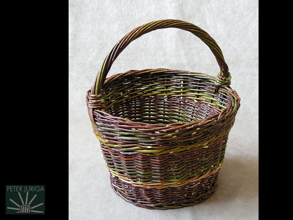 2004-2 A basket used in my overview of basic basket weaving. | Peter Juriga
