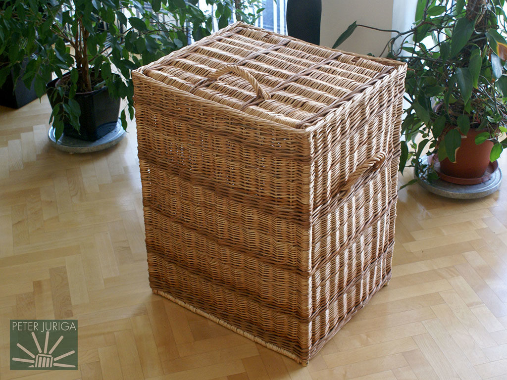 2009-1 A laundry basket I made on commission. I received very exact instructions from the client, including dimensions and color   Peter Juriga