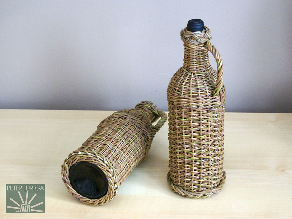 2010-0 Bottles of wine with willow casings I made as Christmas presents | Peter Juriga