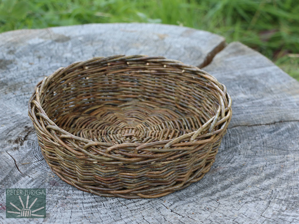 2016-2 I made this bowl while preparing for a part in a reality TV show. It now serves as a model in my basic basketry course | Peter Juriga