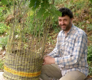 Peter Juriga, basketmaker and author of the book Basketry – The Art of Willow Craft